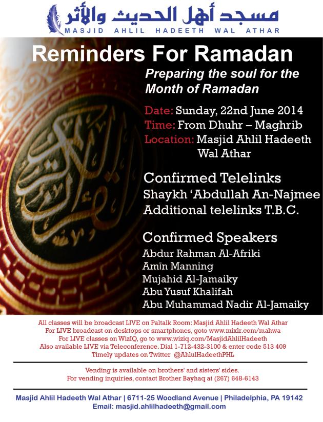 20140615_Reminders for Ramadan_Flyer