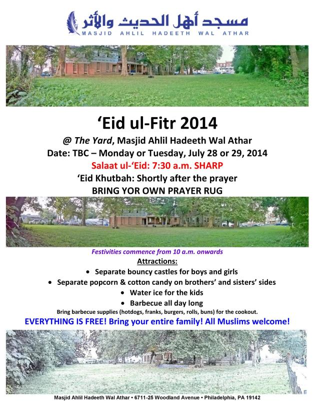Eid ul-Fitr 2014 Flyer_Final