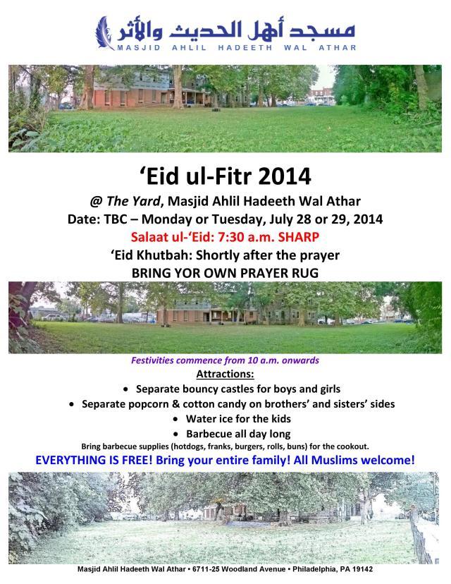 Eid ul-Fitr 2014 Flyer_Final
