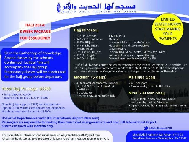 Hajj 2014 Flyer_Masjid Ahlil Hadeeth Wal Athar