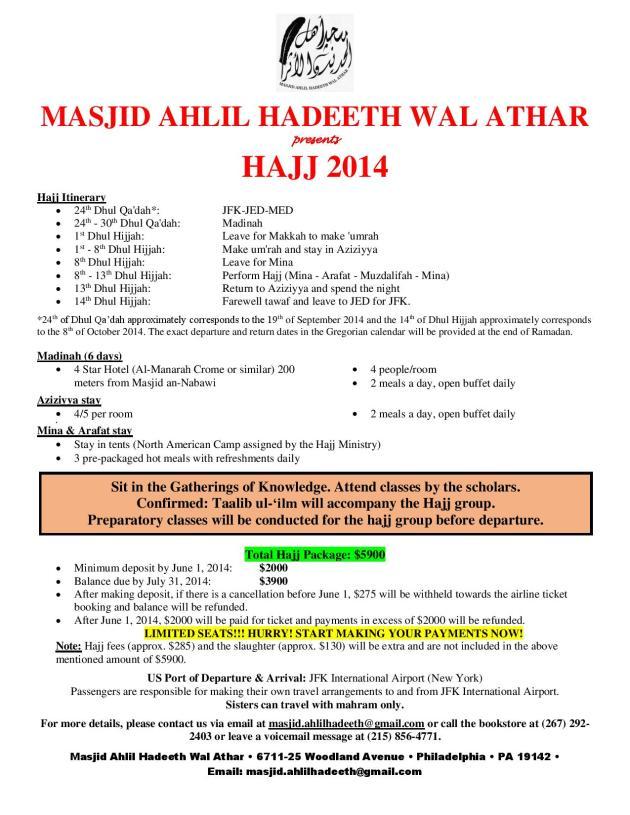 Hajj 2014_Masjid Ahlil Hadeeth Wal Athar