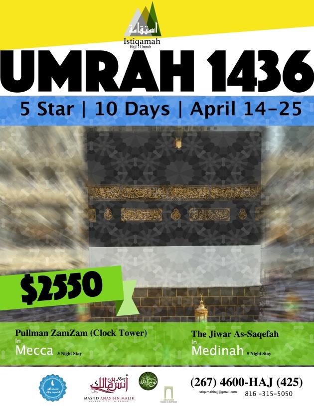 Istiqamah Hajj 2015 Umrah Front