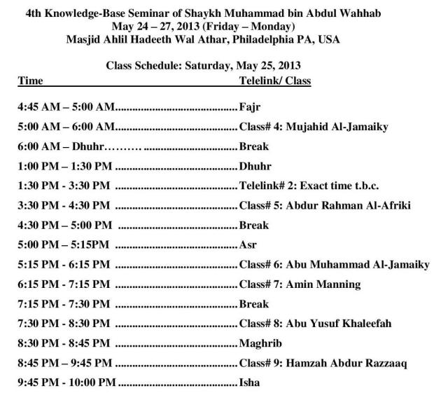 May Knowledge-Base Seminar - Day 2 Schedule